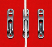 Rope Jammer for Internal Inside In Flagpole Rope Silver Anodised Aluminium