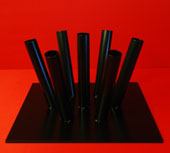 Indoor Flagpole Stand Holds 7 Flagpoles Black Satin Finish By Adwareflags.com