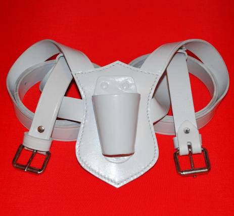Flagpole Holster Flagpole Carrier Flagpole Holder White Leather
