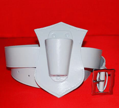 Flagpole Holster Waist Belt Style Flagpole Holder Flag Carrier White
