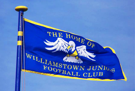 Williamstown Juniors Football Club Screen Printed Outdoor Woven Flag By Adwareflags.com