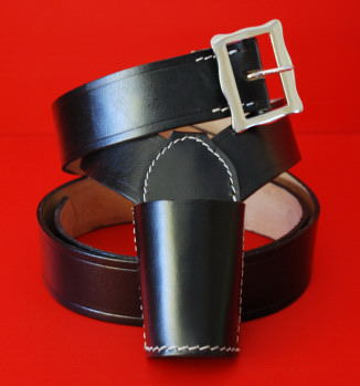 Flagpole Holster Flagpole Carrier Flagpole Holder Sling Black Leather
