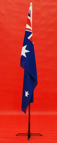 Indoor Flagpole and Stand High Quality Australian Woven Polyester Flag 1800mm x 900mm By Adwareflags.com