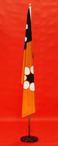 Walnut Timber Indoor Flagpole Set Wooden Base Printed Northern Territory Flag 1800mm x 900mm By Adwareflags.com