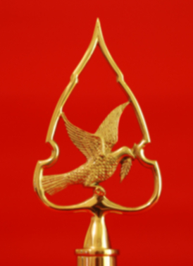 Flagpole Finial - Peace Dove Indoor Flagpole Solid Brass
