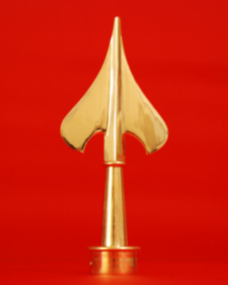 Army Flagpole Spear Solid Brass - Indoor Parade Flagpole