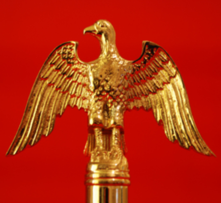Flagpole Finial - USA Gold Eagle Solid Brass Indoor Flagpole
