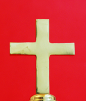 Christian Church Flagpole Cross Finial Small Solid Brass By Adwareflags.com