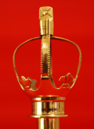 Flagpole Finial Royal Crown Brass -Indoor parade marching flagpoles