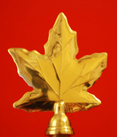 Canadian Maple Leaf Indoor Flagpole Finial Parade Flagpole