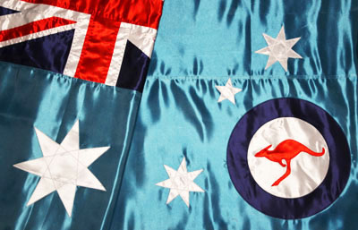 Royal Australian Air Force Satin Flag by Adwareflags.com