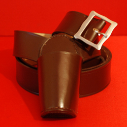 Flagpole Holster Flagpole Carrier Flagpole Holder Brown Leather