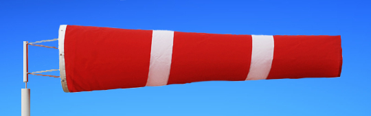 Windsocks Red & White Stripes 6 foot. H/D Polyurethane Mouth