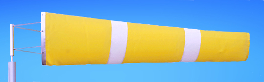 Windsocks Yellow & White Stripes 6 foot. H/D Polyurethane Mouth